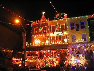 julie from baltimore sent me this picture of a house on 34th street in hampden md apparently residents of this street have been competing for tackiness